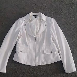WHBM ivory 12 jacket
